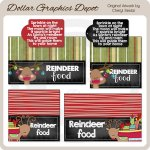 Reindeer Food Chalkboard Bag Toppers
