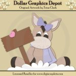 Winter Donkey 2 - Cutting Files / Paper Piecing Patterns