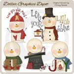 Snow Greetings - Clip Art