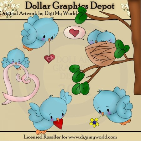 Little Birdies - Clip Art