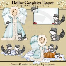 Woodland Angels 1 - Clip Art