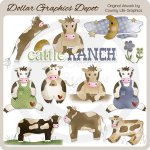 Cattle Ranch - Clip Art