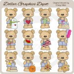 Calendar Bears - Clip Art - *DGD Exclusive*