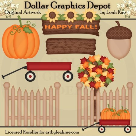 Autumn Accents - Designer's Set - Clip Art