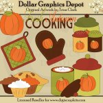 Autumn Kitchen - Clip Art