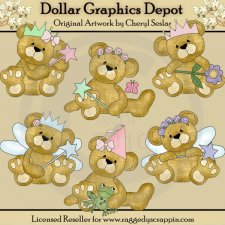 Cuddly Bears - Fairy Princess - Clip Art