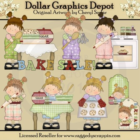 Bake Sale Girls - Clip Art - *DGD Exclusive*