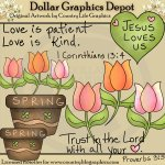 Trust In The Lord - Clip Art