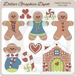 Jolly Gingerbread 1 - Clip Art