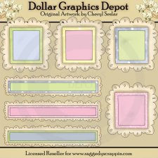 Baby Doodle Frames and Titles - Scrap Elements
