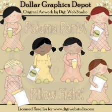 Pajama Party - Clip Art