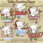 Polar Bears Christmas Teacups