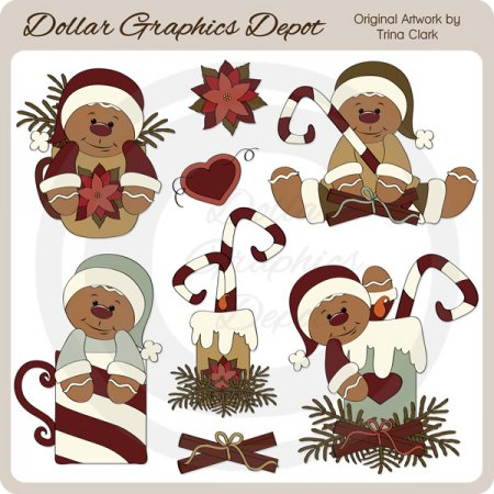 Gingerbread Christmas 1 - Clip Art
