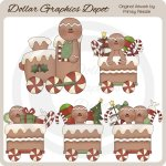 Gingerbread Train - Clip Art
