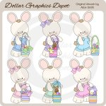 Easter Bunny Baskets - Clip Art - *DGD Exclusive*