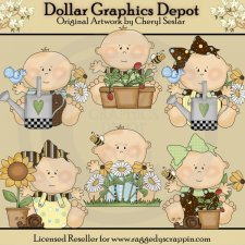 Just Babies - Garden - Clip Art