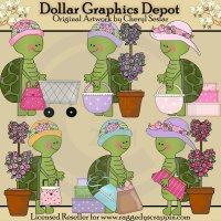 Silly Turtles - Shopping - Clip Art