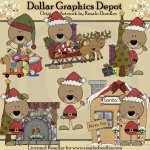 Beary Christmas Bears - Clip Art