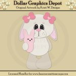Easter Bunny 4 - Cutting Files / Paper Piecing - *DGD Exclusive*
