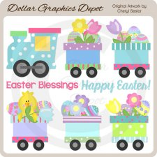 Easter Train - Clip Art