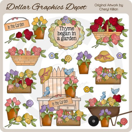 Beautiful Blooms - Clip Art