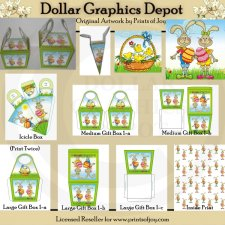 Easter Bunny Gift Boxes - Printables