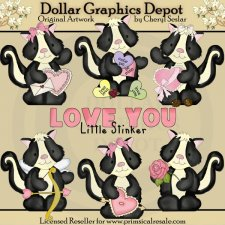Little Stinkers - Valentines - Clip Art