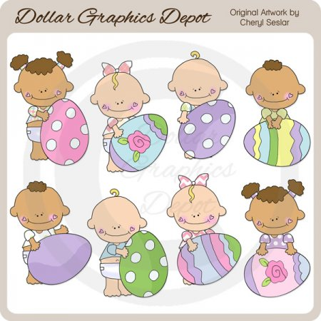 Baby Sprouts - Easter - Clip Art