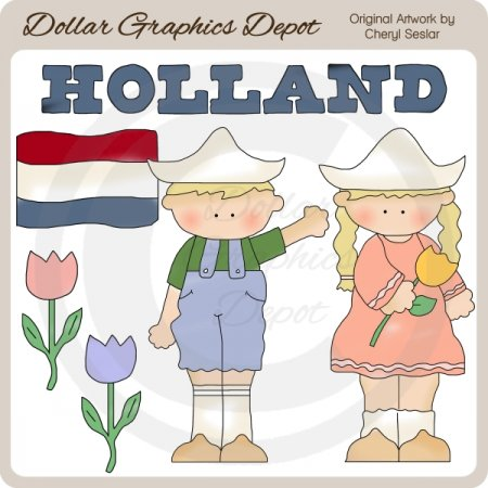 Dutch Kids - Clip Art