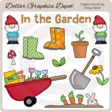 In The Garden 3 - Clip Art
