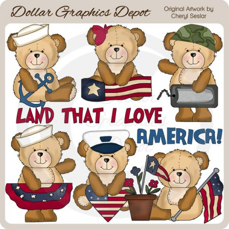 Cutesy Bears - All American
