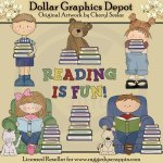 Reading Is Fun - Clip Art - *DGD Exclusive*
