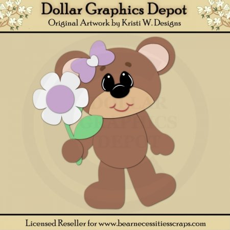 Spring Bear 3 - Cutting Files / Paper Piecing - *DGD Exclusive""