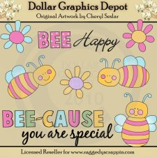 Bee Happy - Clip Art