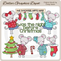 Night Before Christmas 1 - Clip Art