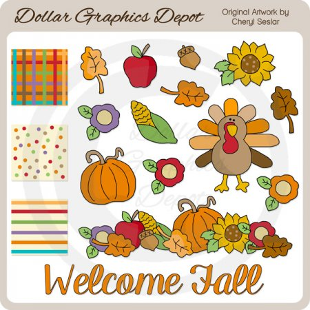 Welcome Fall - Clip Art