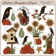 Fall Blessings - Clip Art