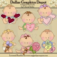 Sweet Dumplin's First Valentine's Day - Clip Art