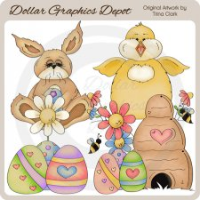 Easter Splash 1 - Clip Art