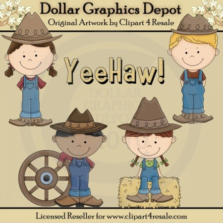 Country Kids - Clip Art - *DGD Exclusive*