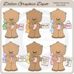 Mother's Day Bears - Clip Art - *DGD Exclusive*