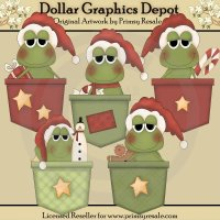 Christmas Frog Pockets