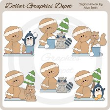 Ginger Friends - Clip Art - *DGD Exclusive*