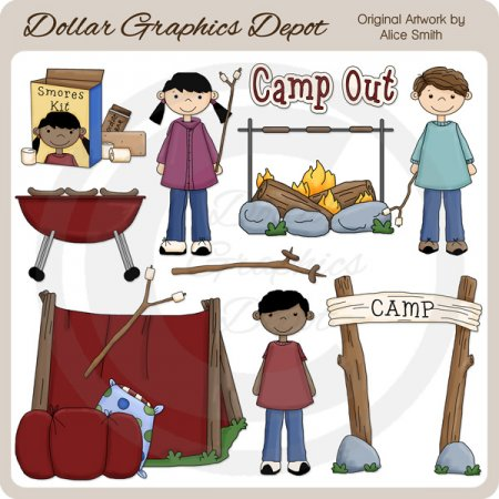 Camp Kids - Clip Art