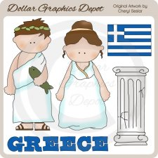 Greek Kids - Clip Art