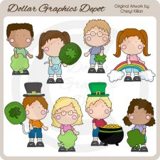 St. Patrick's Day Kids 1 - Clip Art