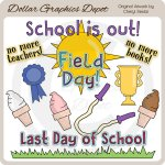 Last Day of School - Clip Art