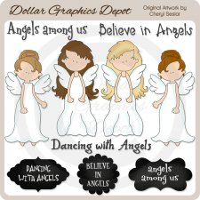 Dancing with Angels - Clip Art