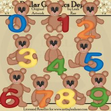 Number Bears - Clip Art