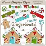 Gingerbread Village - Clip Art